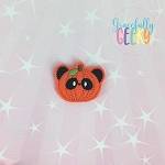 Panda pumpkin Feltie ITH Embroidery Design 4x4 hoop (and larger)