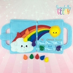 Rainbow Felt Travel Board ITH Design 5x7 Hoop or Larger