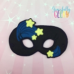 Starry Night Mask  Embroidery Design - 5x7 Hoop or Larger