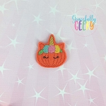 Unicorn Pumpkin Feltie ITH Embroidery Design 4x4 hoop (and larger)