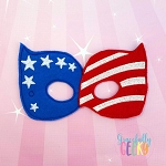 US Flag Mask  Embroidery Design - 5x7 Hoop or Larger