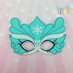 Winter Mask  Embroidery Design - 5x7 Hoop or Larger