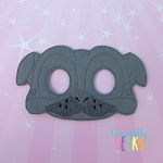 Pug Mask Embroidery Design - 5x7 Hoop or Larger