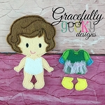 Bonnie Toddler Dress up Doll  - Embroidery Design 4x4 hoop or larger