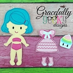 Nina Dress up Doll - Embroidery Design 5x7 hoop or larger