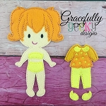 Olivia Dress up Doll - Embroidery Design 5x7 hoop or larger