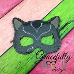 Cat Girl Mask Embroidery Design - 5x7 Hoop or Larger