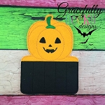 Pumpkin Crayon Holder Embroidery Design - 5x7 Hoop or Larger