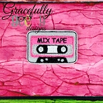 Mix Tape Feltie ITH Embroidery Design 4x4 hoop (and larger)