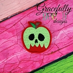 Poisoned Apple Feltie ITH Embroidery Design 4x4 hoop (and larger)