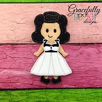 Edith Dress up Doll - Embroidery Design 5x7 hoop or larger