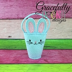 Bunny felt basket Embroidery Design - 5x7 Hoop or Larger