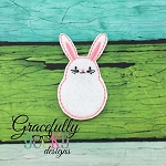 Bunny  Feltie ITH Embroidery Design 4x4 hoop (and larger)
