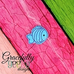 Fishy Feltie ITH Embroidery Design 4x4 hoop (and larger)