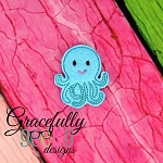 Octopus 2 Feltie ITH Embroidery Design 4x4 hoop (and larger)