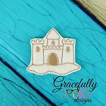 Sand Castle Feltie ITH Embroidery Design 4x4 hoop (and larger)