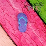Sandal Feltie ITH Embroidery Design 4x4 hoop (and larger)