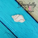 Seashell 2 Feltie ITH Embroidery Design 4x4 hoop (and larger)