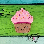 Cupcake Feltie ITH Embroidery Design 4x4 hoop (and larger)