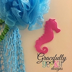 Seahorse Foam Bath Toy ITH Embroidery Design 4x4 hoop (and larger)