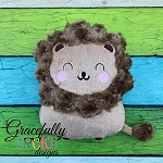Lion Stuffie ITH Embroidery Design - 5x7 Hoop or larger
