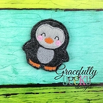 Penguin Feltie ITH Embroidery Design 4x4 hoop (and larger)