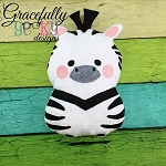 Zebra Stuffie ITH Embroidery Design - 5x7 Hoop or larger