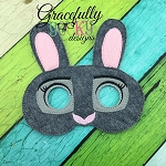 Bunny 2 Mask Embroidery Design - 5x7 Hoop or Larger
