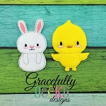 Easter Finger Puppet SET   Embroidery Design - 4x4 Hoop or Larger