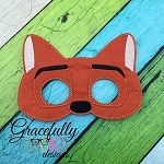 Fox 2 Mask Embroidery Design - 5x7 Hoop or Larger