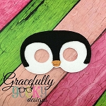 Penguin 2 Mask Embroidery Design - 5x7 Hoop or Larger
