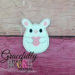 Love Bunny Feltie ITH Embroidery Design 4x4 hoop (and larger)