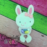 Bunny candy pouch 2  ITH Embroidery Design 4x4 hoop (and larger)
