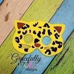 Cheetah Felt  Mask  Embroidery Design - 5x7 Hoop or Larger