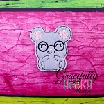 Geeky Mouse Feltie ITH Embroidery Design 4x4 hoop (and larger)