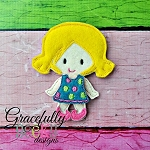 Samantha Toddler Dress up Doll  - Embroidery Design 4x4 hoop or larger