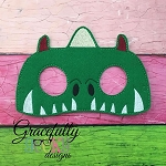 Dragon  Mask Embroidery Design - 5x7 Hoop or Larger
