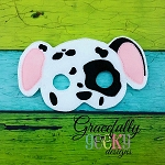 Dalmatian Felt  Mask  Embroidery Design - 5x7 Hoop or Larger