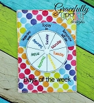 Days of the Week Embroidery Design - 5x7 Hoop or Larger