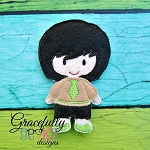 Ivan BOY Toddler Dress up Doll  - Embroidery Design 4x4 hoop or larger
