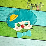 Clown Felt  Mask  Embroidery Design - 6x10 Hoop or Larger