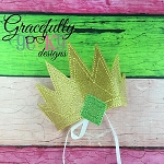 Emerald Crown Embroidery Design - 5x7 Hoop or Larger