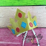 Jewel Crown Embroidery Design - 5x7 Hoop or Larger