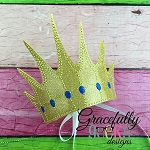 Sea Queen Crown Embroidery Design - 5x7 Hoop or Larger
