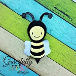 Bee Stuffie ITH Embroidery Design - 5x7 Hoop or larger