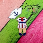 Sailor Dress outfit for  Dress up Dolls (OUTFIT ONLY) - Embroidery Design 5x7 hoop or larger