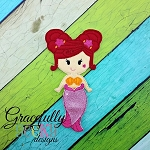 Marina  Dress up Doll - Embroidery Design 5x7 hoop or larger