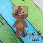 Cat BOY Dress up Doll - Embroidery Design 5x7 hoop or larger