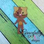 Cat Girl  Dress up Doll - Embroidery Design 5x7 hoop or larger