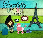 Paris Felt Board Set (Great for Dress up Dolls) - Embroidery Design 5x7 hoop or larger